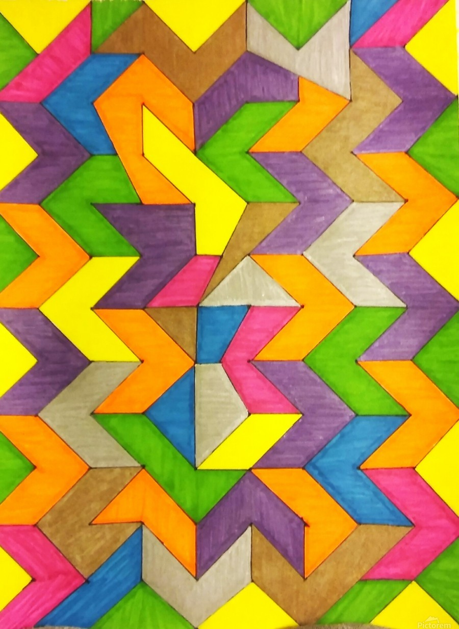 Patterned Lines of Color  Print
